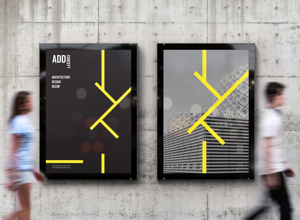 logo branding add concept 04